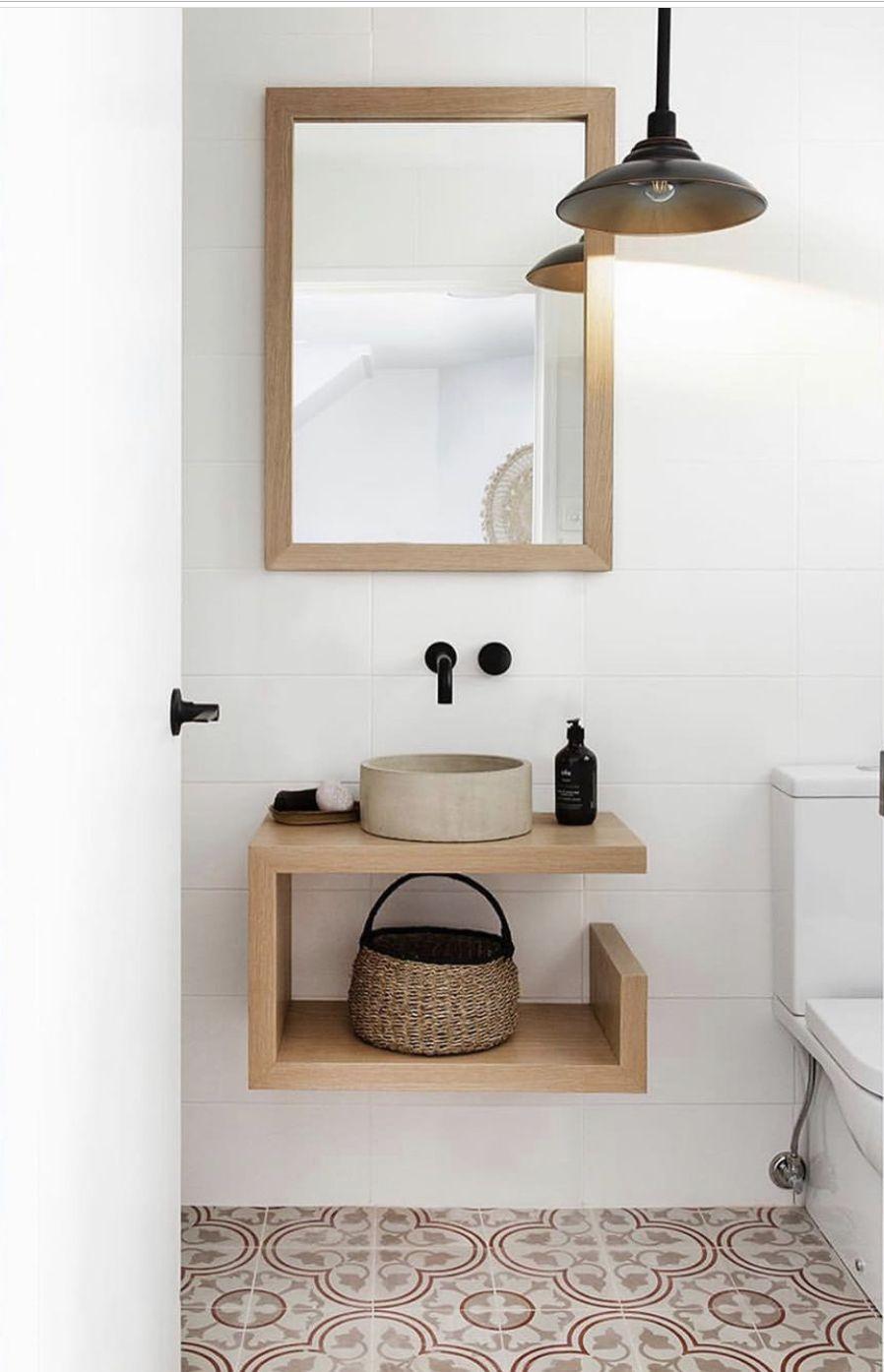 Cute Bathroom Love The Cement Tiles Badezimmer Einrichtung Badezimmer Innenausstattung Romantische Deko
