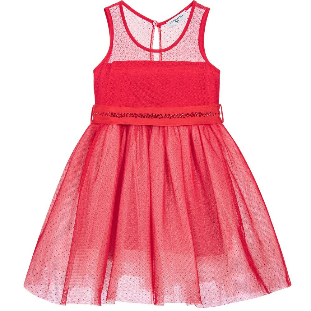 Red dress for wedding reception  Girls Red Dress with Jewelled Belt  Kids online and Girls