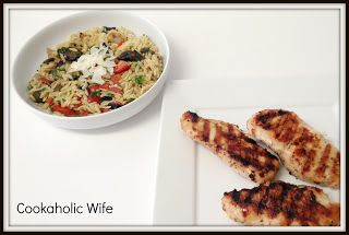 Italian Chicken with Grilled Orzo Salad | Cookaholic Wife