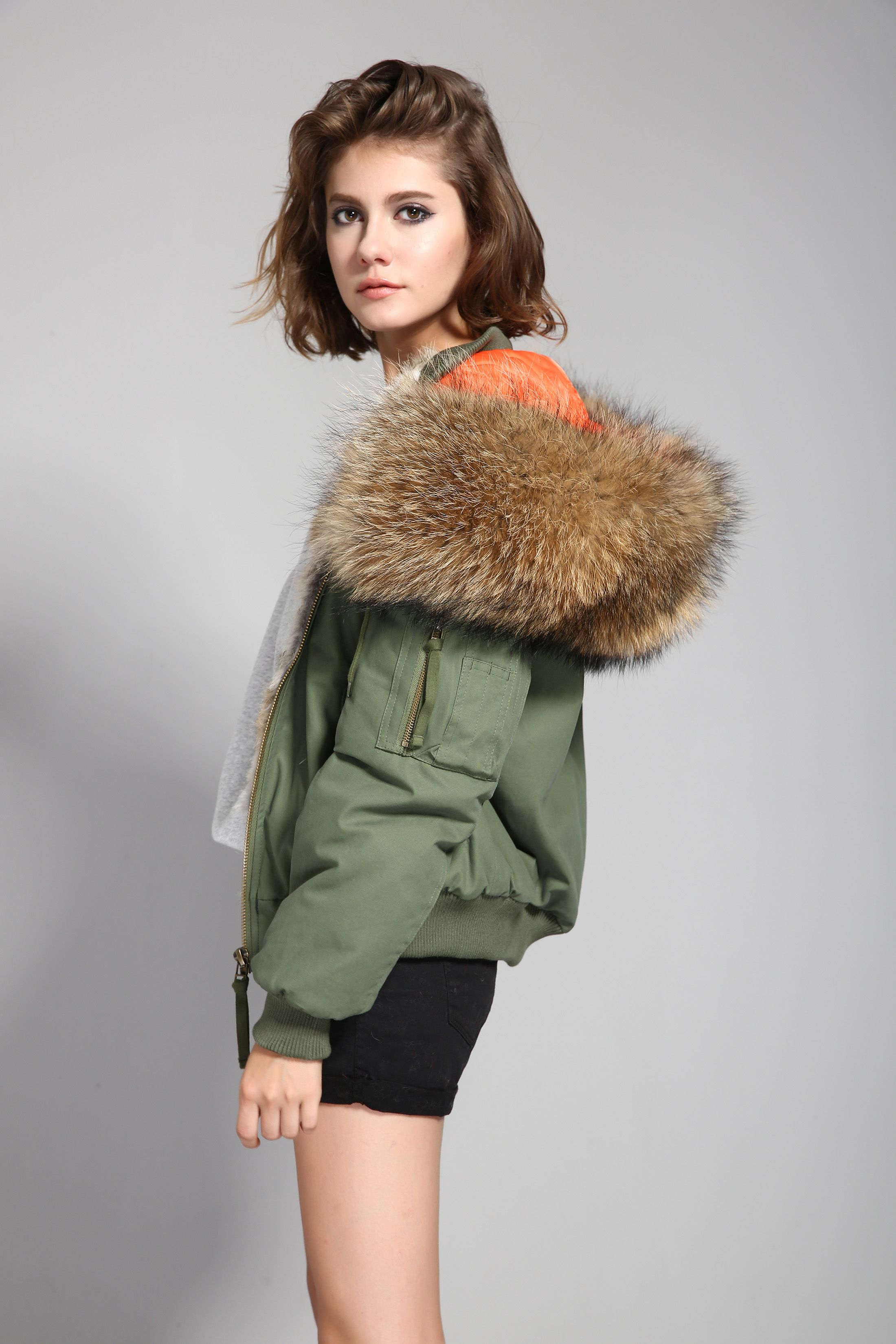 31e2da1e67a JAZZEVAR new high fashion street woman winter jacket female worm bomber coat  hooded large raccoon fur outerwear rabbit fur liner
