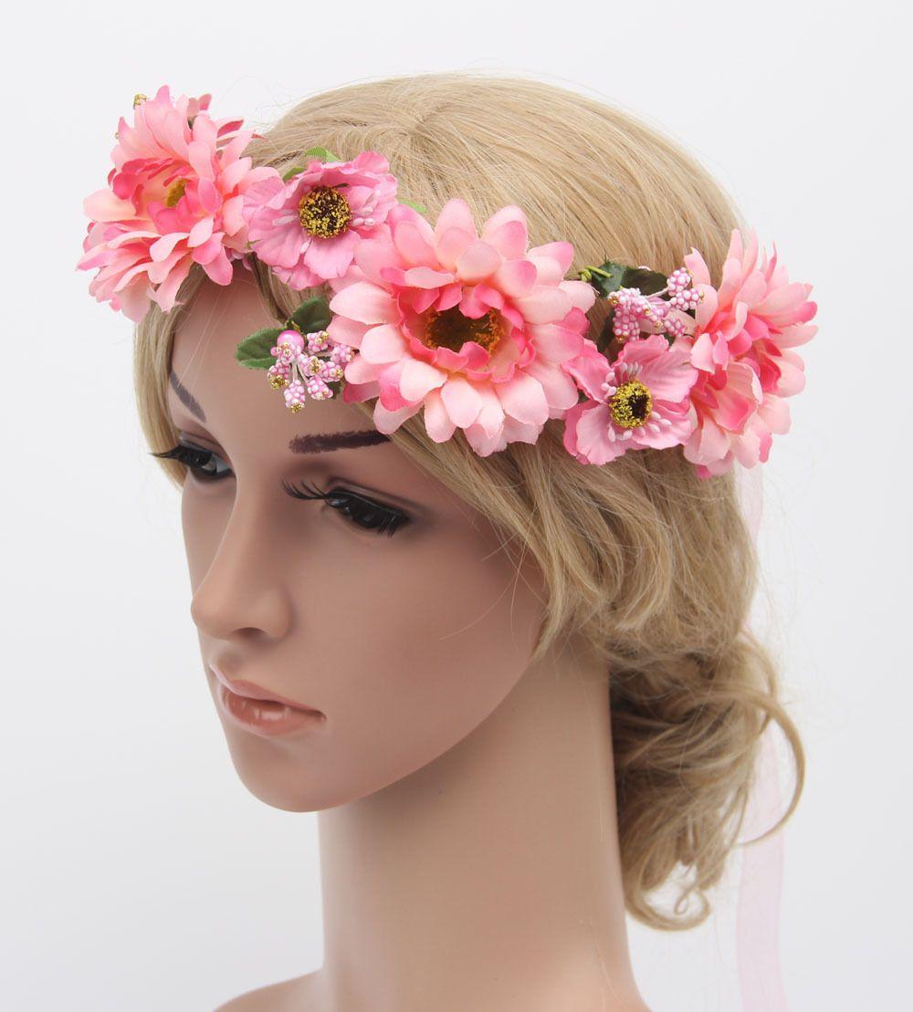 Click to buy wreath girls sun flower crown women flower headband click to buy wreath girls sun flower crown women flower headband hair izmirmasajfo