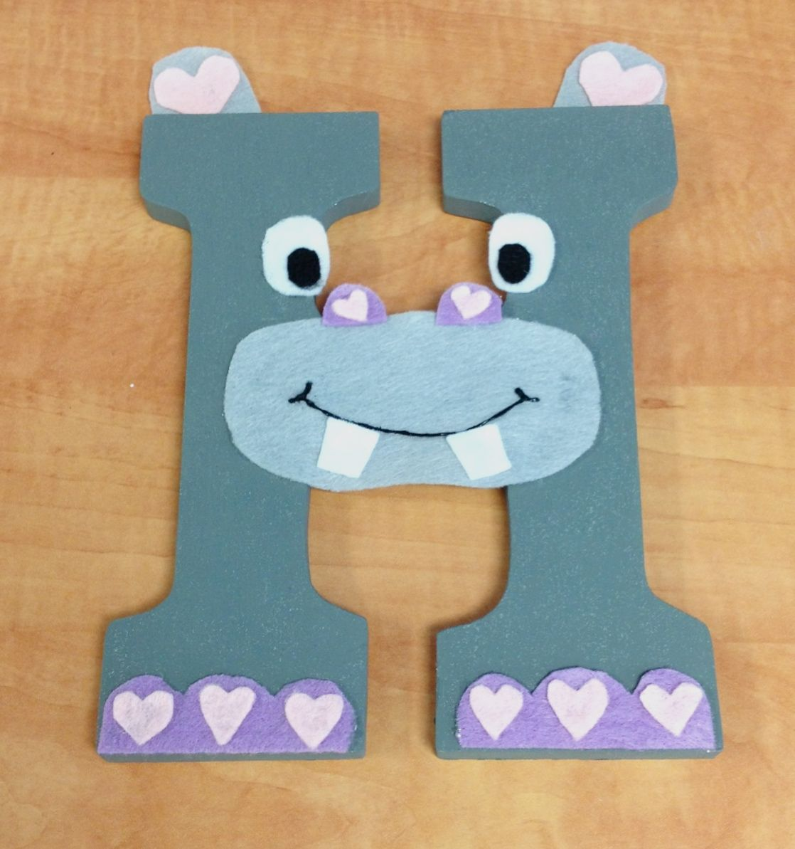 H Is For Hippo Children S Alphabet Wall Decor The Letter