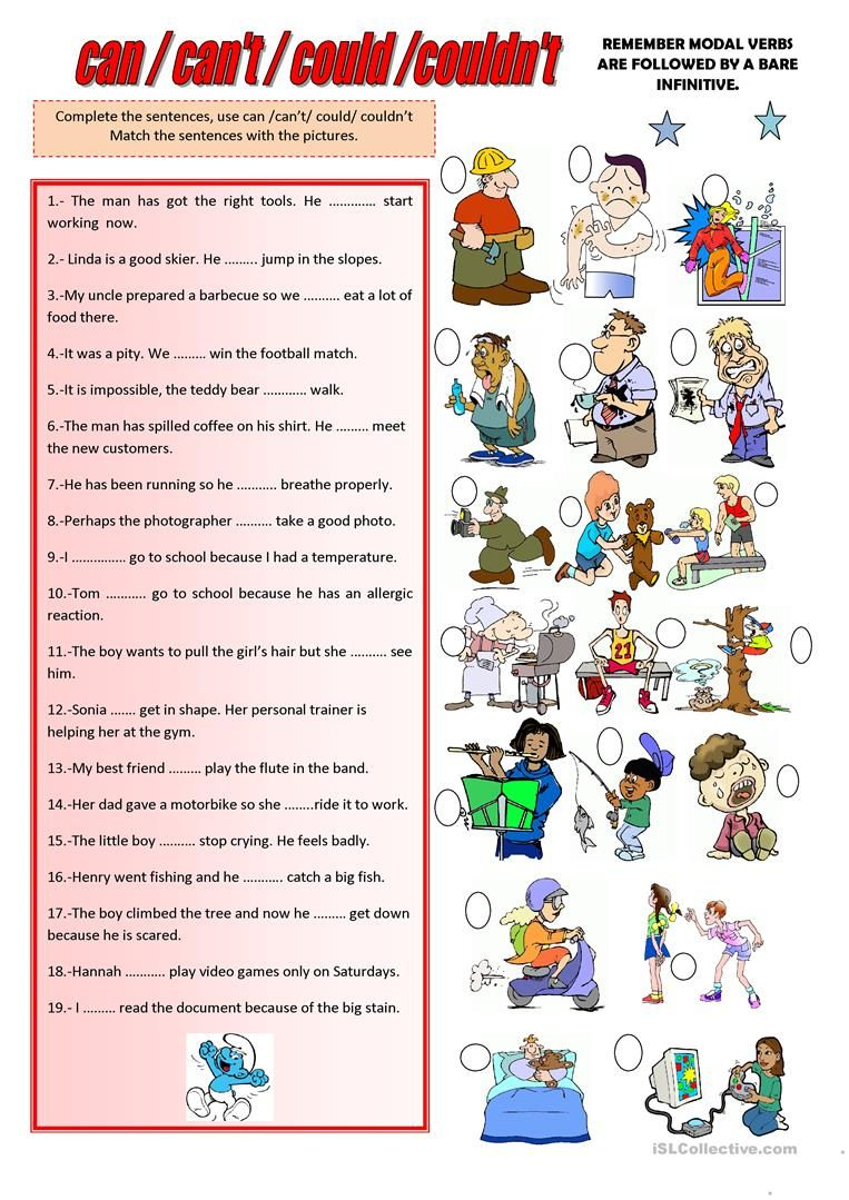 Can Can T Could Couldn T Complex Sentences Worksheets Teachers Aide Grammar Practice