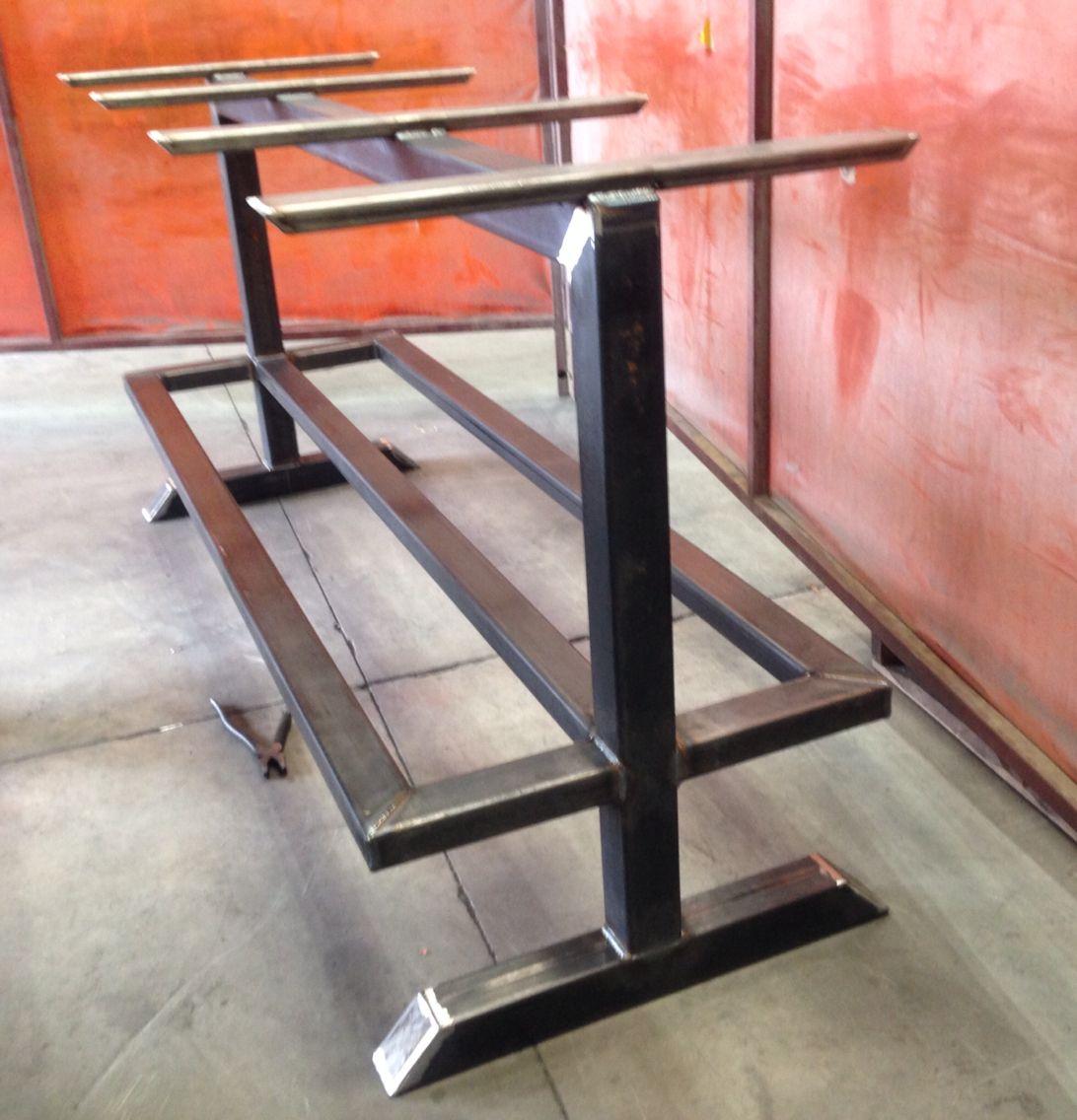 Custom Metal Table Base Table A Manger Table Meuble