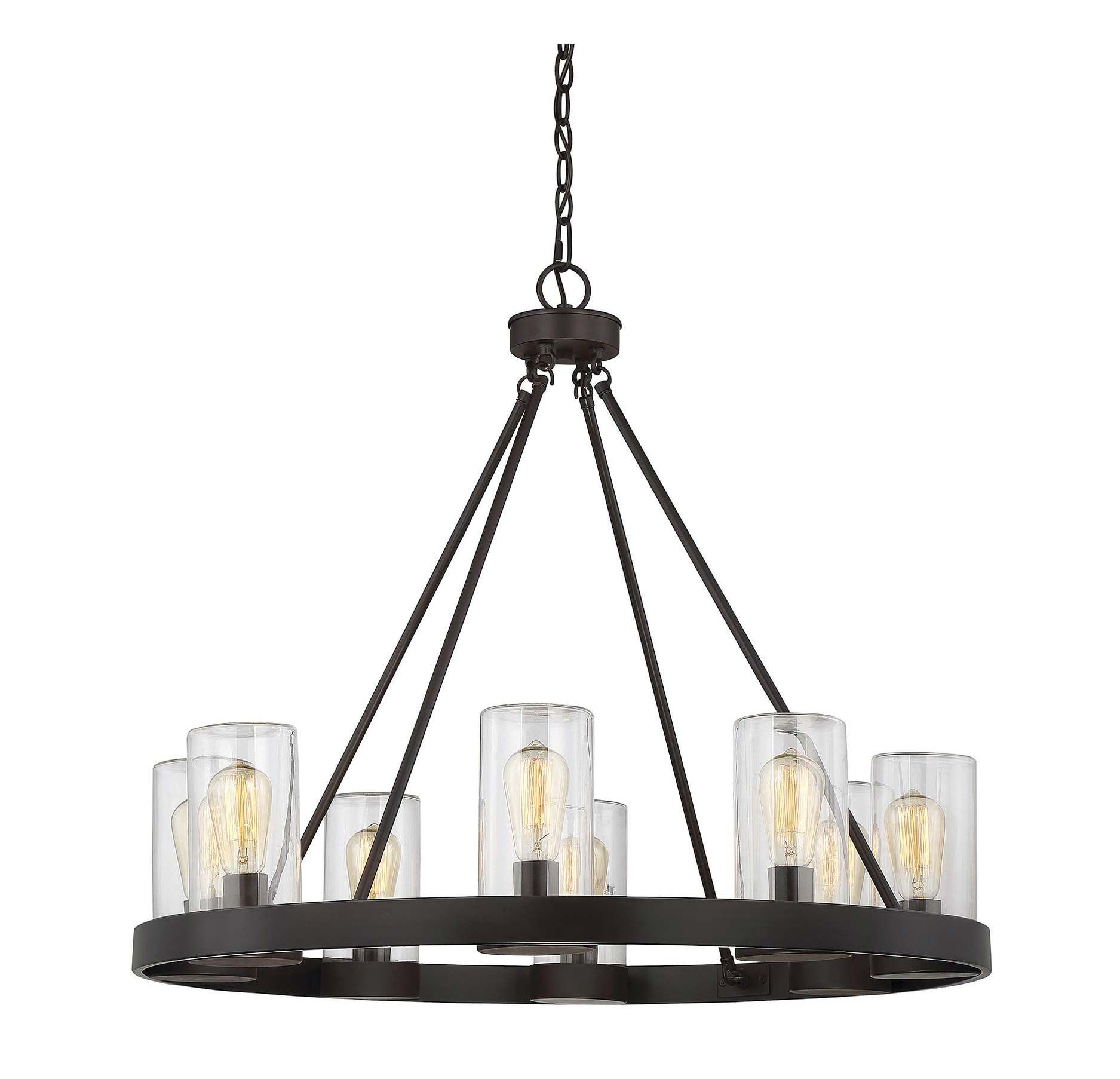 Inman Round Outdoor Chandelier By Savoy House 1 1130 8 13 Outdoor Chandelier Outdoor Hanging Lights Savoy House Lighting