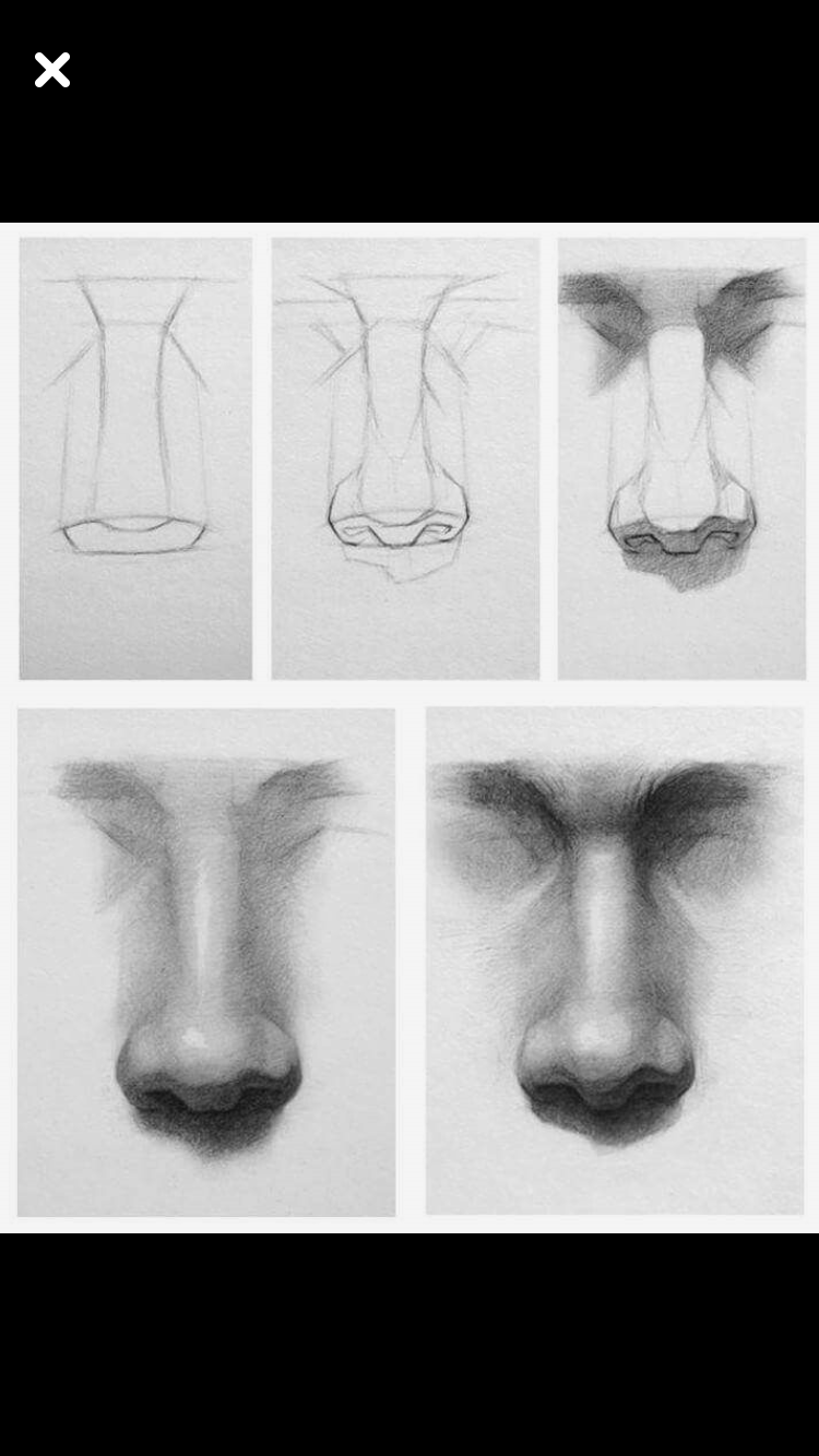Drawing A Realistic Nose Tutorial Nose Drawing Realistic