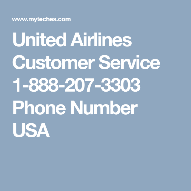 united airlines contact number