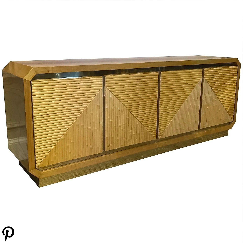 1970s Split Bamboo Sideboard 1970s Split Bamboo Sideboard