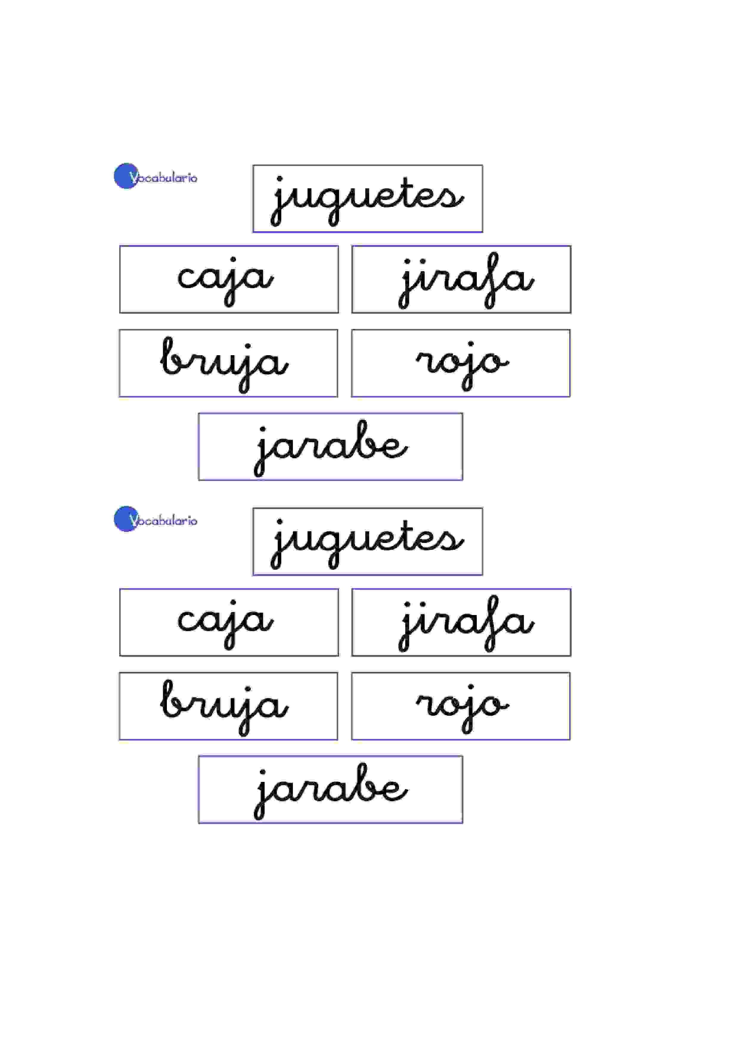 Lernübungen für kinder zu drucken. Vokabular Spanisch zu lernen 10 ...