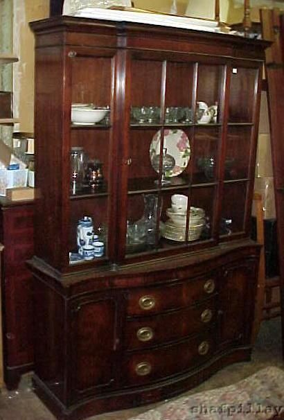 Antique c1930s Drexel Mahogany Breakfront China Cabinet #Victorian ...