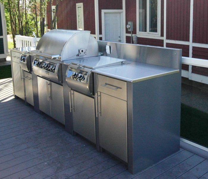 Stainless Steel Outdoor Kitchen Outdoor Kitchen Pinterest