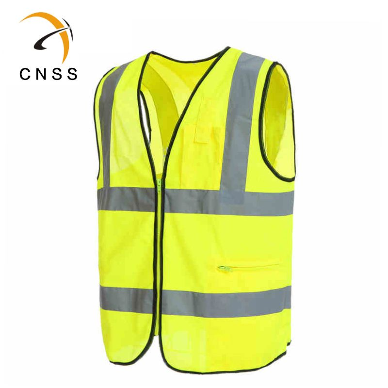 Simple Safety Vest With Two Reflective Tapes Keep You Good Visibile At Night Vest Safety Fabric
