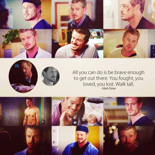 All you can do is be brave enough to get out there. You fought. You loved. You lost. Walk tall, Torres.  -Mark.