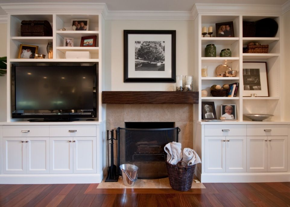 Stoned Fireplace with Built-ins. Charleston Stack-Ease J&N Stone ...
