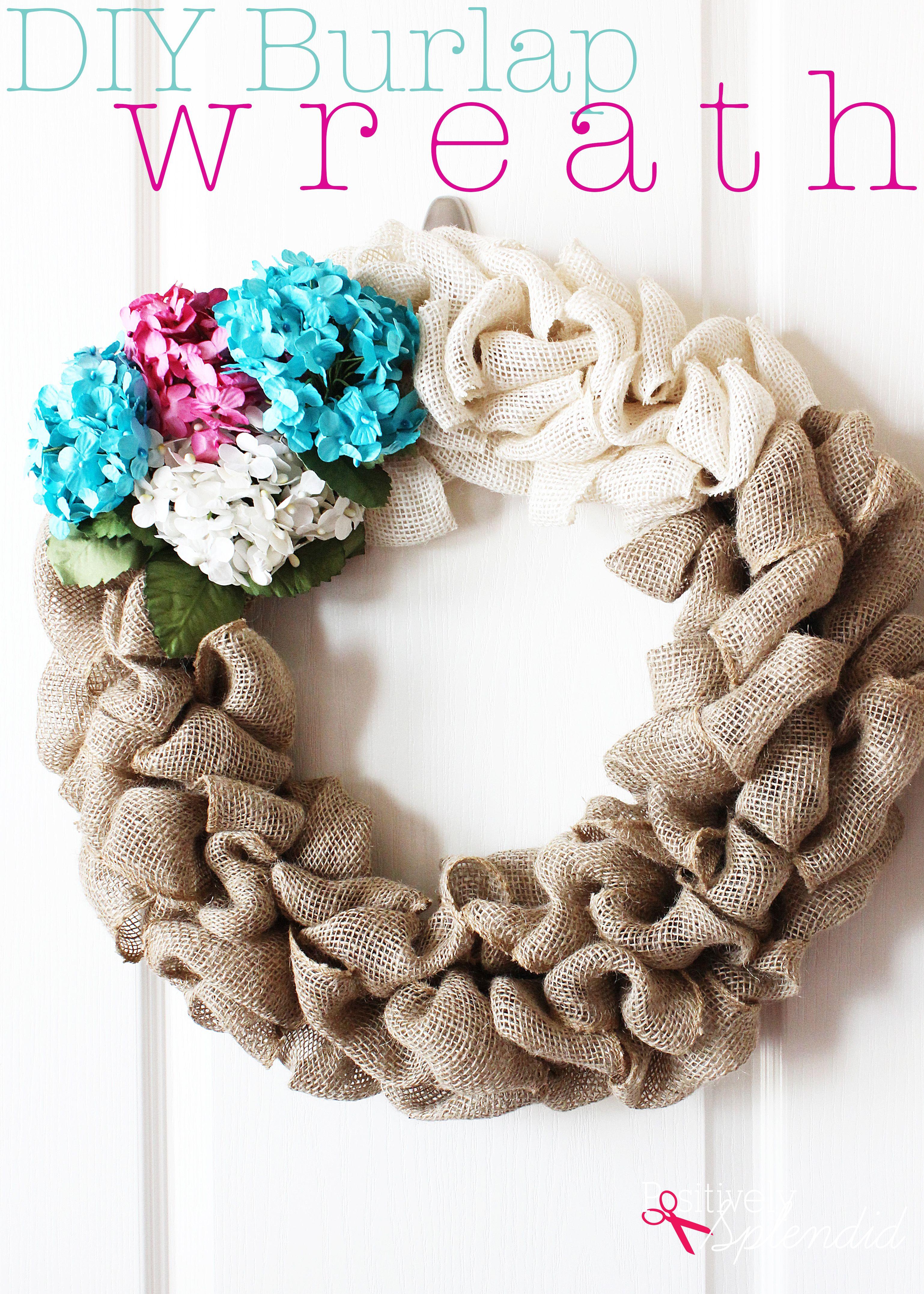 DIY Burlap Wreath Tutorial - So easy and fun to make! | Wire wreath ...
