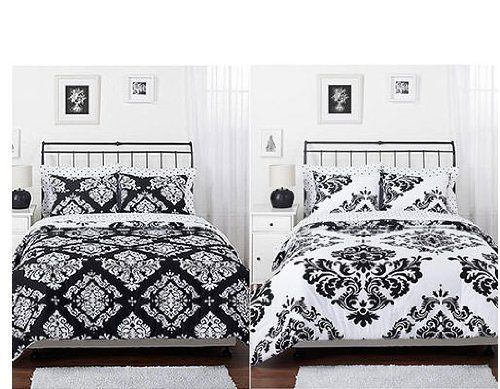pink and black comforter sets Features Reversible Made of
