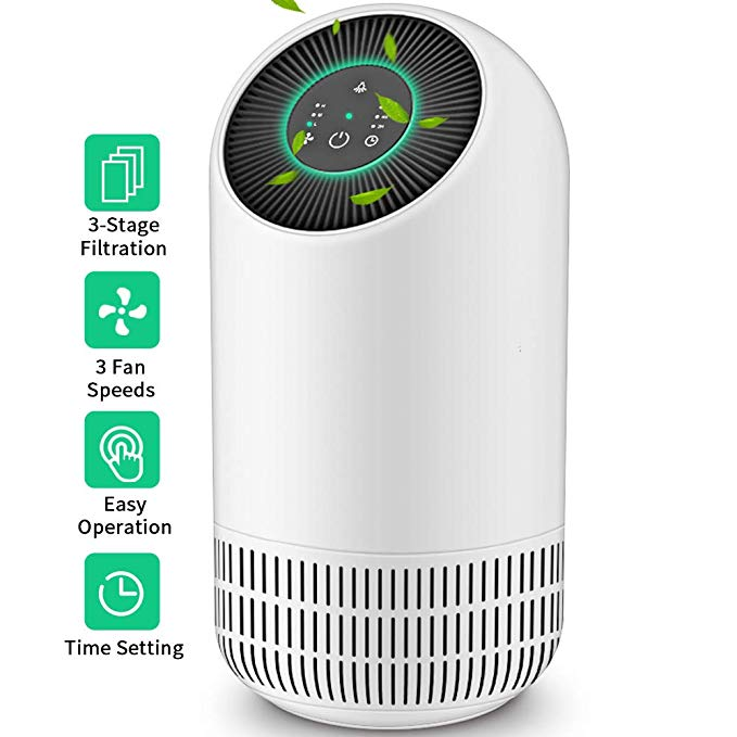 Amazon Com Honati Air Purifier For Home Allergies And Pets True Hepa Filter Easy To Eliminates Dust Pollen Smoke And Household Odors Office Small Portable