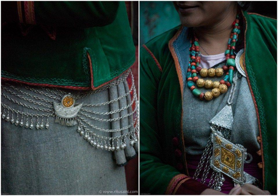 Traditional Kinnauri jewellery