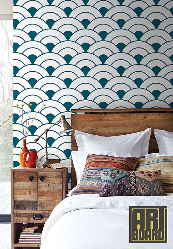 "Circles Pattern - self adhesive DIY wallpaper, home decor, Peel n Stick 20.9""x 8' G051"