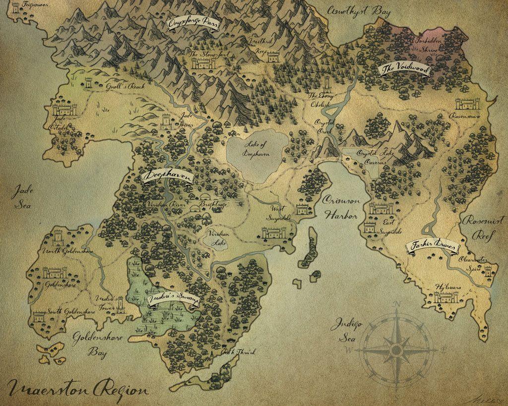 Fantasy Map - Maerston Region Melissajp