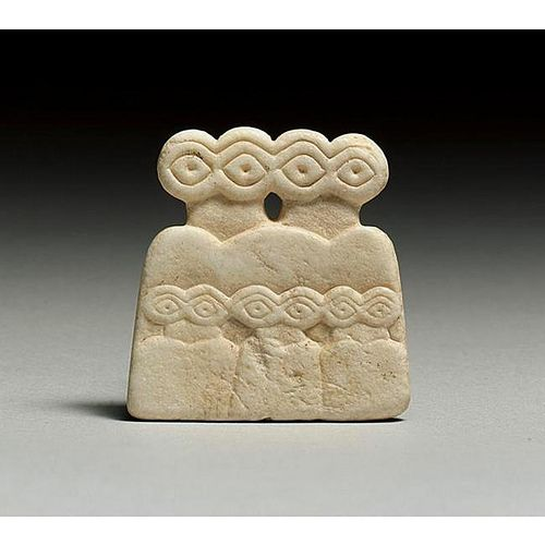 A Protohistoric Calcite Eye Idol, From Tell Brak by Ancient Art, via Flickr