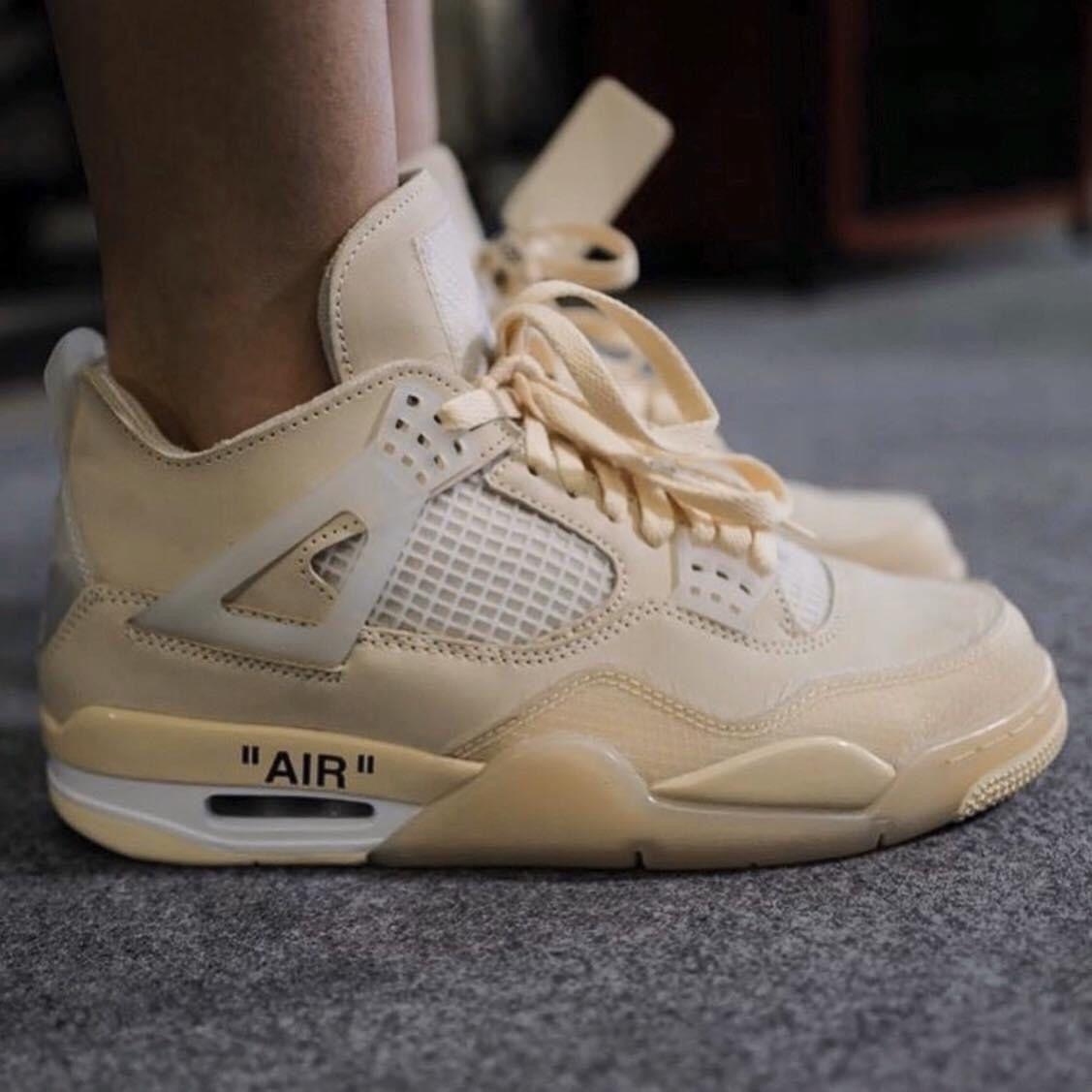 Off - White x Nike Air Jordan 4 Cream