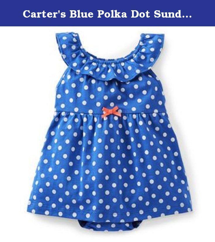 Carter's Blue Polka Dot Sundress Romper 6 Months. Carter's Blue Polka Dot Sundress Romper 6 Months.