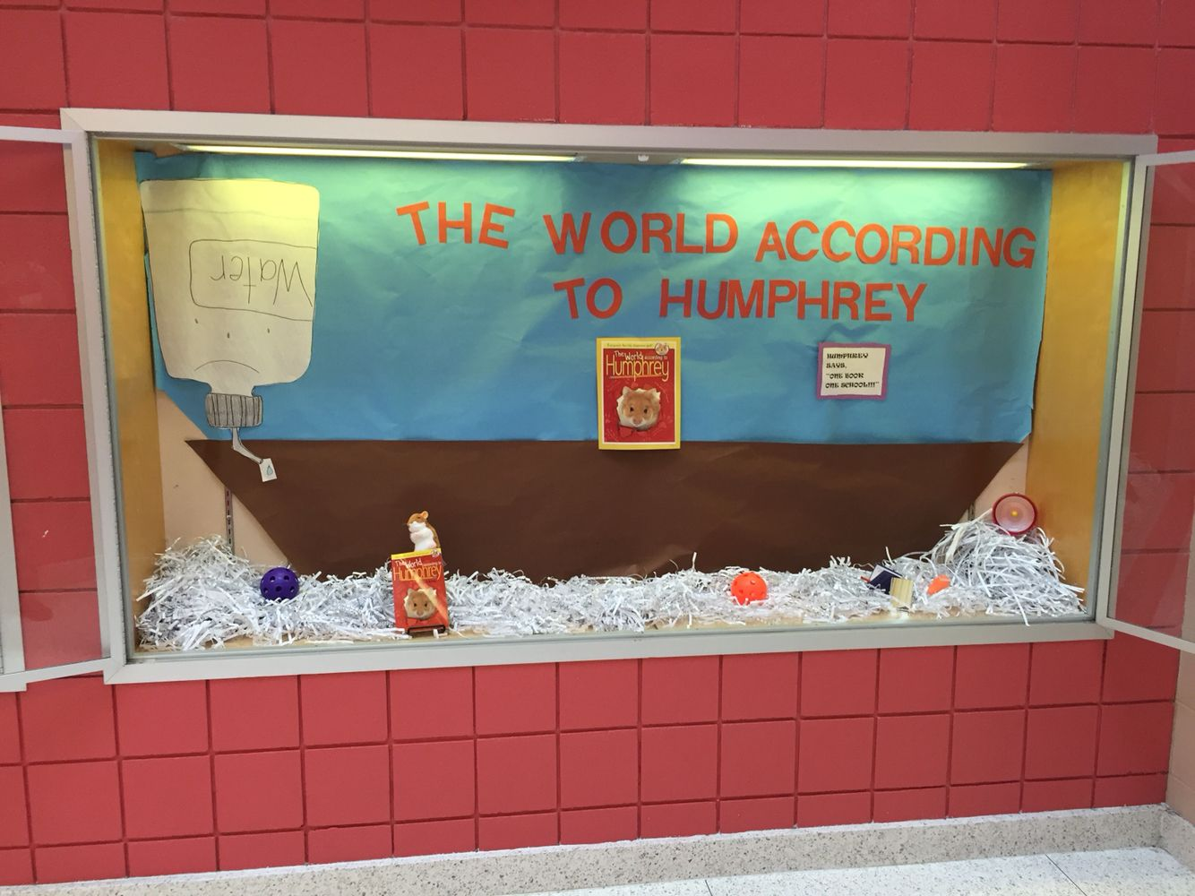 The World According to Humphrey: giant hamster cage behind a display ...