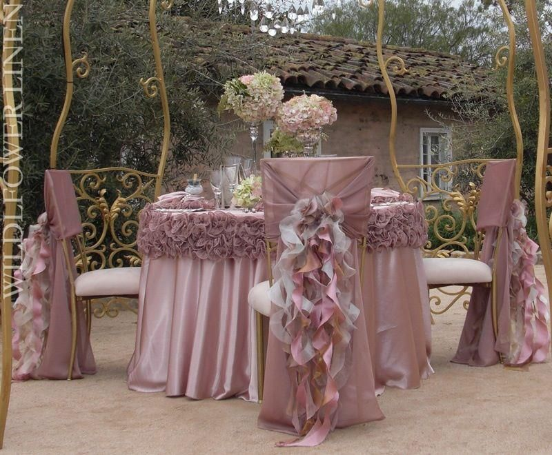 Victorian Lilac Table Linens