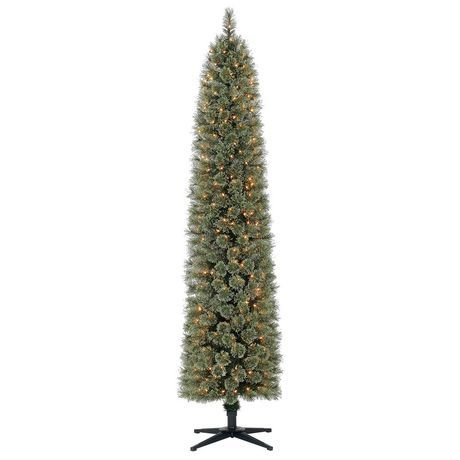 Holiday time 7' Shelton Cashmere Pencil Fir Christmas Tree with Clear  Lights | Walmart Canada - Holiday Time 7' Shelton Cashmere Pencil Fir Christmas Tree With