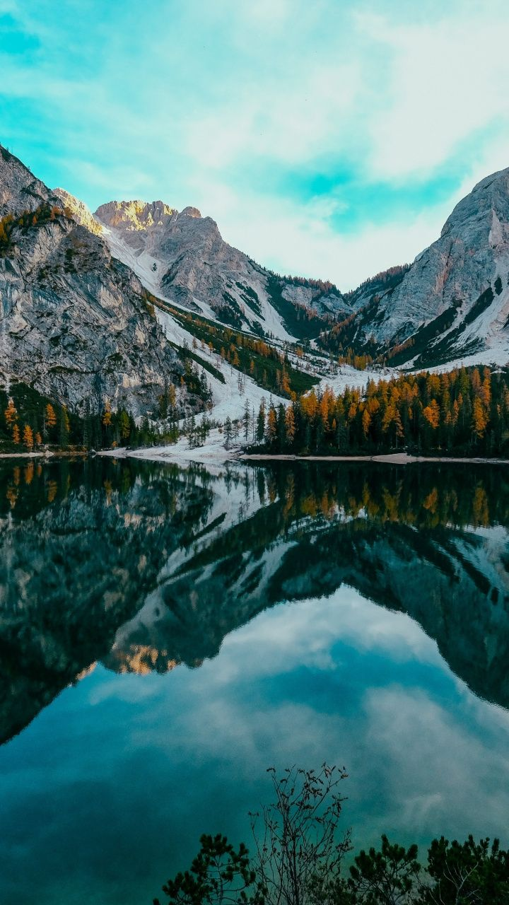 Lake Nature Mountains Reflections 720x1280 Wallpaper Mountain Landscape Photography Nature Photography Nature Pictures