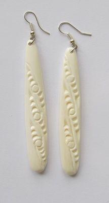 Maori Drop Bone Earrings Bone Earrings Earrings Jewelry Art