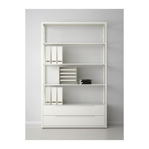 FJÄLKINGE Shelf unit with drawers, white Drawers, Big girl rooms