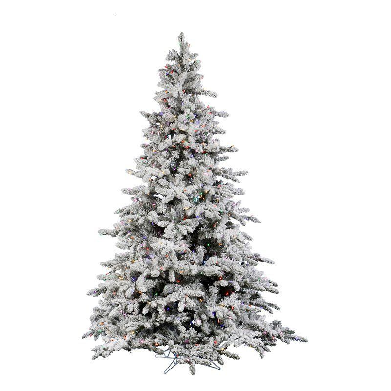 Flocked Utica Fir Pre-lit Italian LED Christmas Tree - A895187LED - Vickerman 10 Ft. Flocked Utica Fir Pre-lit Italian LED Christmas