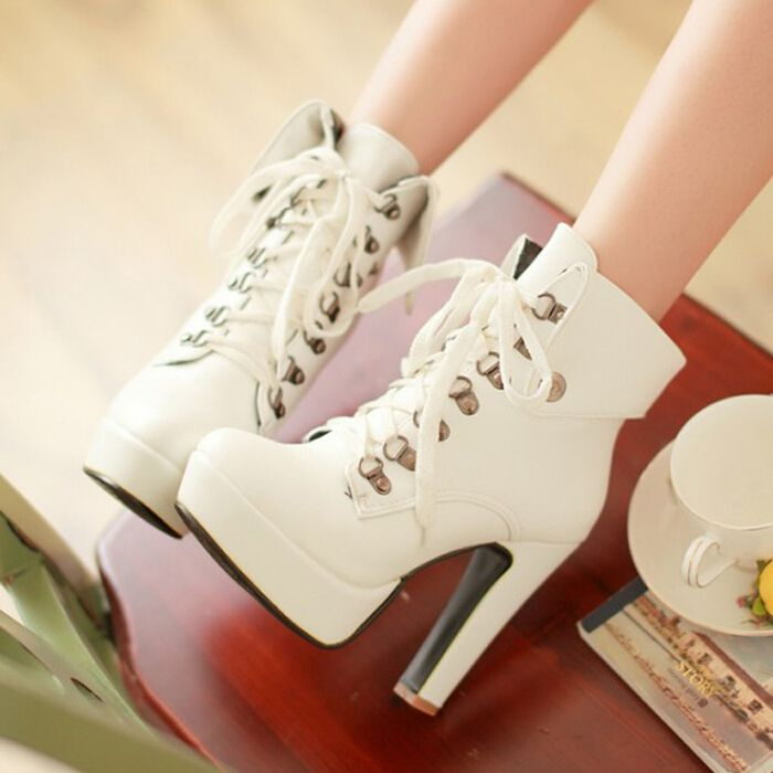83c21b51758 Fashion cute heels martin boots from Fashion Kawaii [Japan & Korea ...