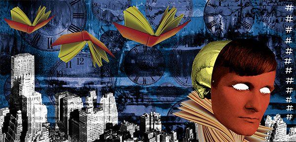 """Vivemos uma concomitância de efêmeros. Os absolutos e """"absolutinhos"""" que cercam nossa moderna relação com a obra de arte. Texto: Elvira Vigna. Ilustração: Janio Santos. Suplemento Pernambuco, edição 83, janeiro de 2013."""