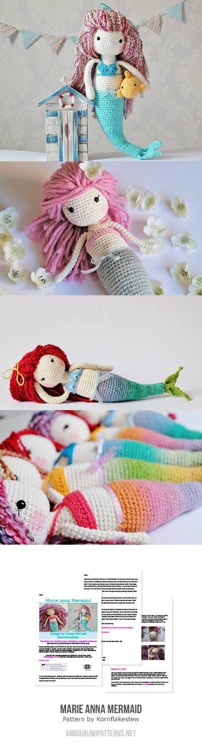 Marie Anne Mermaid amigurumi pattern by Kornflakestew | Sirenitas ...