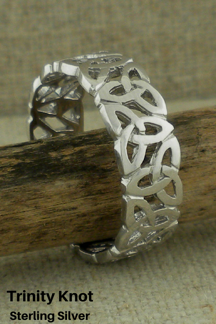 fa34c7d1306 Sterling Silver beautiful Trinity Knot Wedding Ring. Handmade in Ireland  this beautiful ring is 7 mm for both the lady the gent.