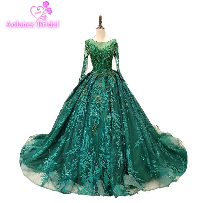 Modest Green 2018 O Neck Long Sleeve Lace Tulle Puffy Masquerade Ball Gown Quinceanera Dress Party Formal Evening Gown #masqueradeballgowns Modest Green O Neck Long Sleeve Lace Tulle Puffy Masquerade Ball Gown Quinceanera Dress Party Formal Evening Gown. #Modest #Green #2018 #Neck #Long #Sleeve #Lace #Tulle #Puffy #Masquerade #Ball #Gown #Quinceanera #Dress #Party #masqueradeballgowns Modest Green 2018 O Neck Long Sleeve Lace Tulle Puffy Masquerade Ball Gown Quinceanera Dress Party Formal Evenin #masqueradeballgowns