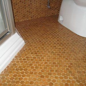 Cork Penny Tiles Cool
