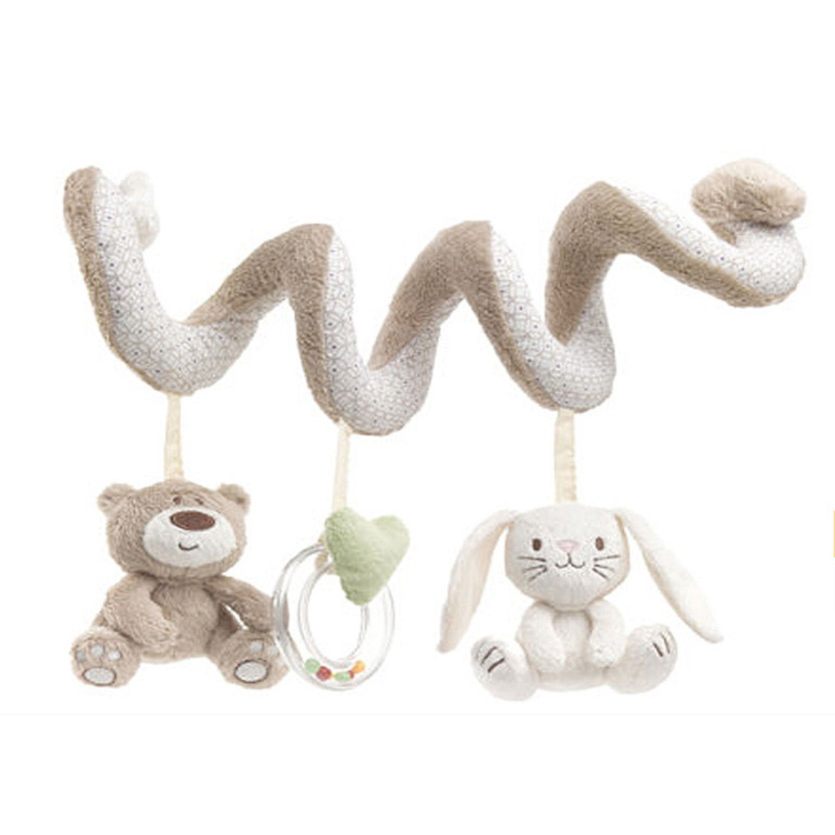 Car hanging soft toys  Baby Rattle Bed Stroller Hanging Spiral Activity Rabbit Musical