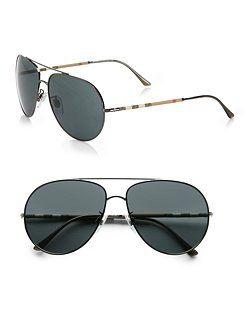 8c8f09028f Burberry - Metal Aviator Sunglasses  SaksLLTrip