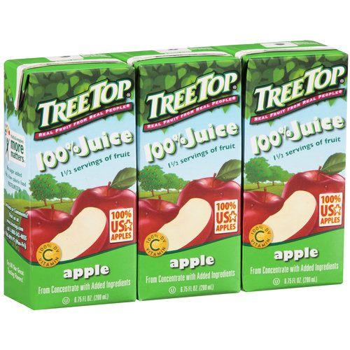 Tree Top Apple 100 Juice Boxes 6 75 Fl Oz 3 Ct Walmart Com Juice Boxes Grocery Snack Time