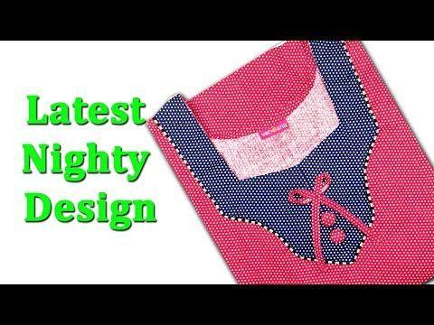 963e726cf5 Latest Nighty neck design cutting and stitching DIY tutorial Hindi ...