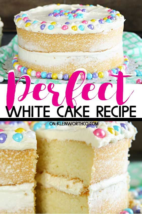 Best White Cake Recipe Best White Cake Recipe that is perfect for weddings birthdays  any other celebration This easy classic 2layer cake really is the best homemade dess...