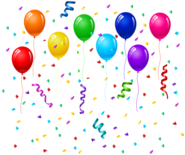 Confetti And Balloons Png Clip Art Image Clip Art Free Clip Art Balloon Background