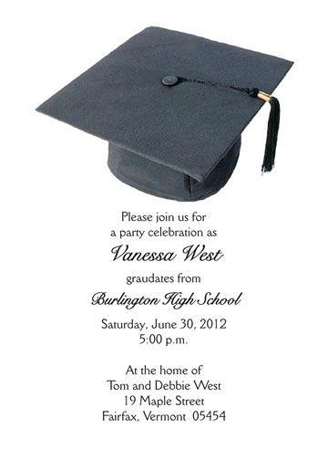 Graduation party wording graduation party invitation grad flat graduation party wording graduation party invitation grad flat card cap black filmwisefo