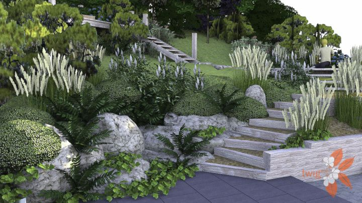 SketchUp model of a wildlife garden design in East ...