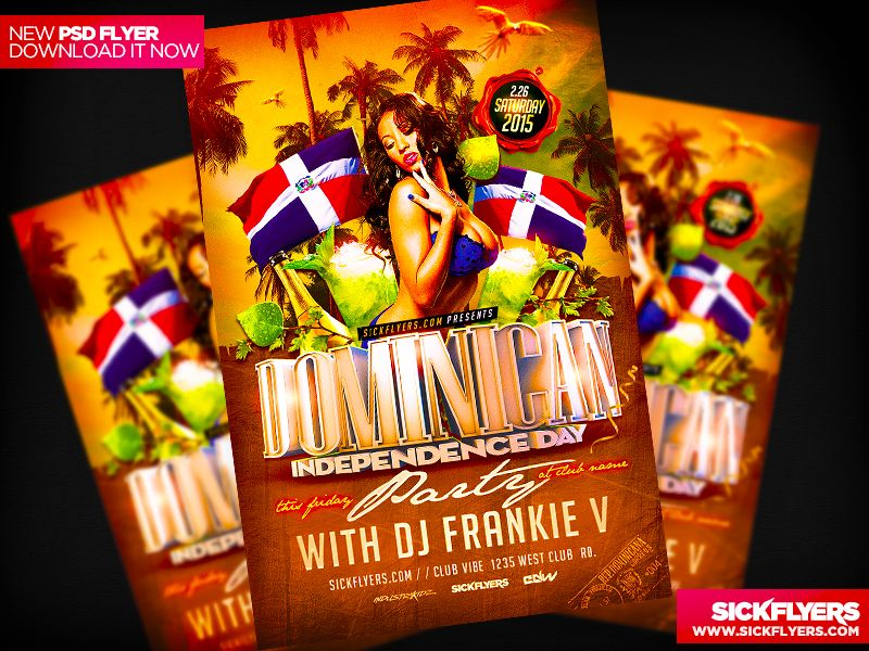 Dominican Independence Day Flyer By IndustrykidzDeviantartCom On