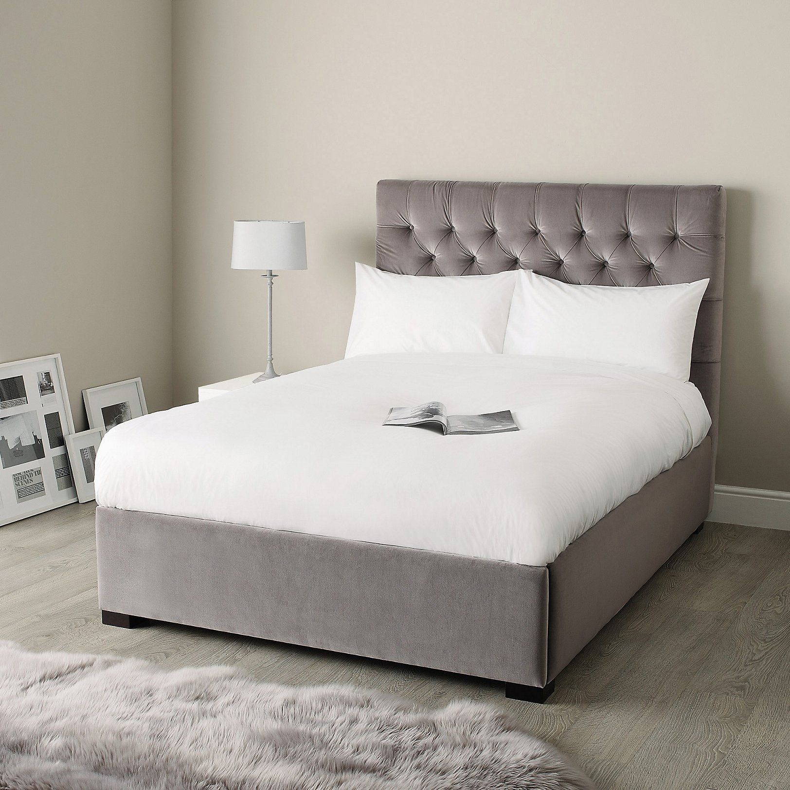 Richmond Bed Velvet | Beds | Furniture | Home | The White Company UK